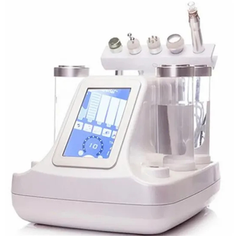 5 with 1 Small Bubble Ultrasonic RF Bio-lifting Spa Deep Facial Cleaning Firming Hydrafacial Machine Microdermabrasion Device image