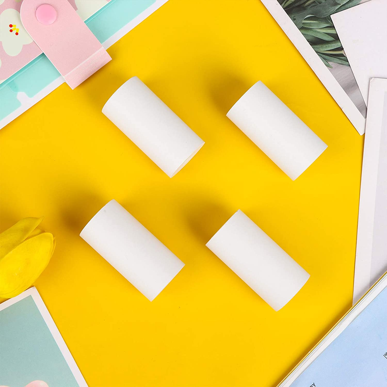 Printable Sticker Paper Roll Direct Thermal Paper Self-adhesive 57*30mm for PeriPage A6 Thermal Printer PAPERANG P1/P2