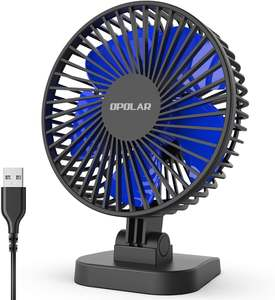 Desk Fan Office-Table Quiet Mini-Usb for 3-Speeds Cord Whisper Better-Cooling-Perfect