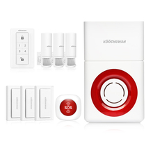 цена на KOOCHUWAH Anti Burglar Alarm Security Systems for Home Wireless GSM House Alarm Motion Sensor SMS Lound Voice Alert Fire Alarm