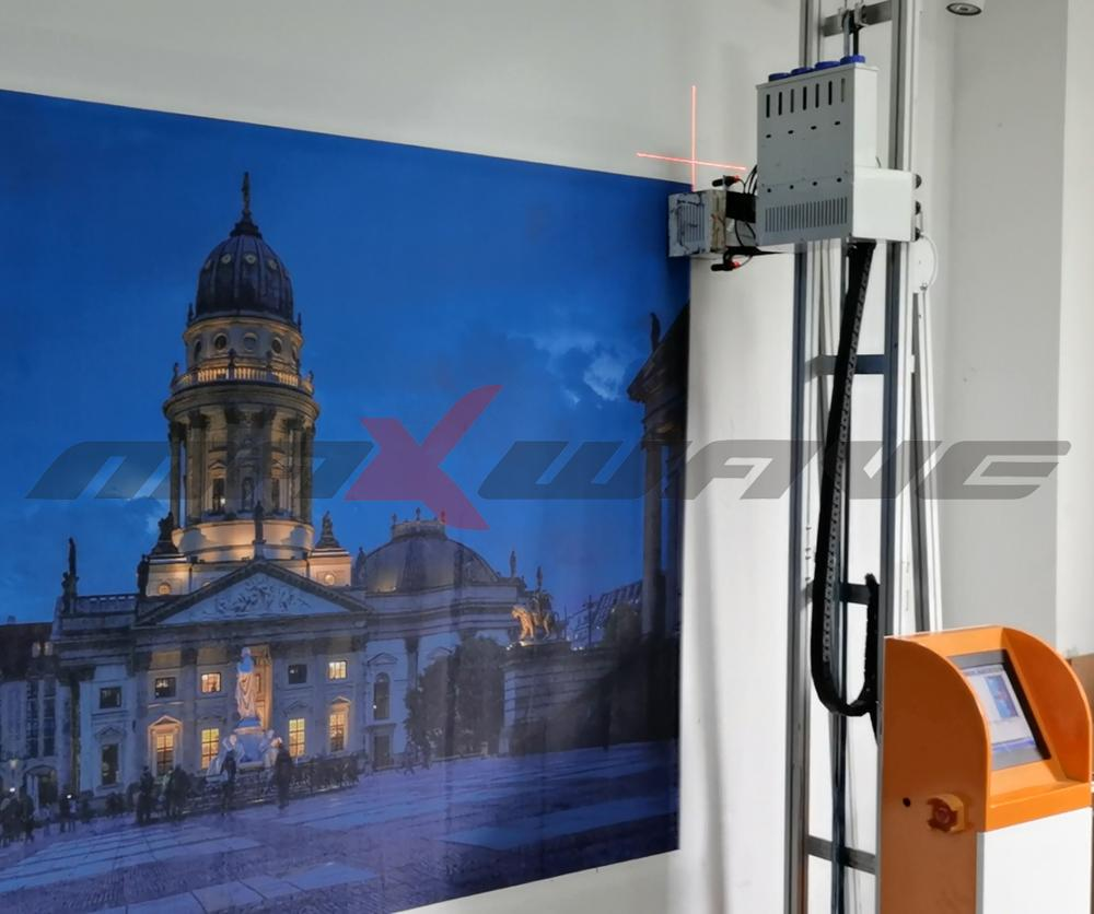 Maxwave Laser Innovation In 3D Wall Decoration Wall Inkjet Printer CMYK Touch Screen Wall Printer Pr