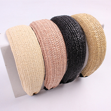 Korean Style Knotted Hairband Handmade Straw Weaving headban