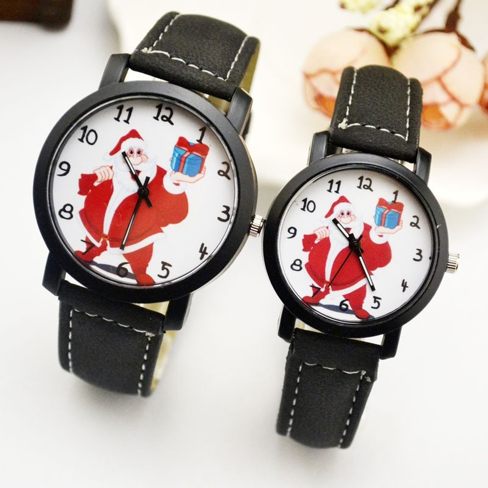 Lovers' Couples Quartz Sdutent Men Valentine Gift Clock Watches Ladies Unisex Christmas Gift  Santa Claus Wristwatches