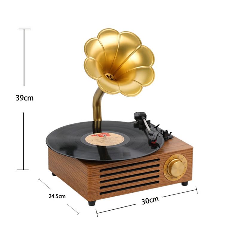 Bluetoothスピーカーレコードプレーヤーターンテーブル蓄音機ビニール ...
