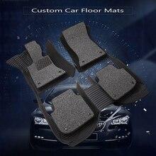 Tapis de sol de voiture sur mesure, pour Ford Edge Escape Kuga Fusion Mondeo Ecosport Explorer Focus 3 MK2 Fiesta