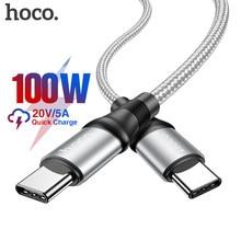 HOCO USB C USB C tipi kablo 5A 100W PD hızlı şarj için Macbook iPad desteği hızlı şarj samsung S20 S10 Xiaomi 10 Pro