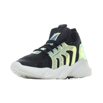 DUAL Women's shoes; 2020 spring new style; Comfortable women running shoes in black with cotton fabrics; women sneakers shoes