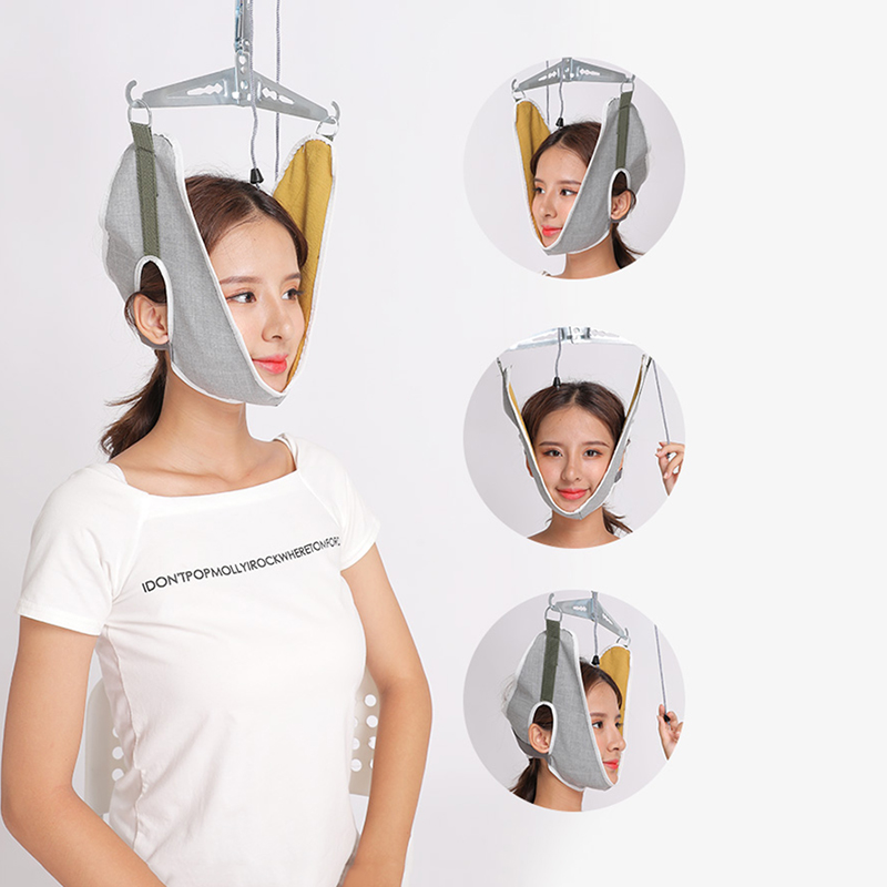 neck orthosis traction frame Cervical traction device home stretching medical hanging cervical spondylosis neck treatment device(China)