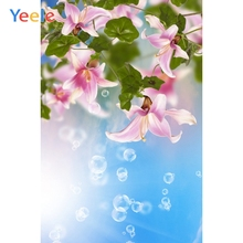 Yeele Photophone Spring Bubble Flowers Leaves Photography Backgrounds Vinyl Seamless Digital Camera Backdrop Props Photo Studio