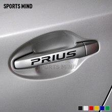 4 قطع الرياضة العقل لتويوتا بريوس TRD الاكسسوارات JDM سيارة التصميم مقبض الفينيل سيارة ملصقا صائق السيارات