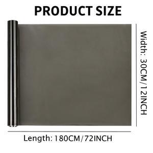 30*180cm Auto Smoke Headlight Taillight Tint Vinyl Film Sheet Sticker 35% Medium BlackWaterproof Car Body Film Cover Car Styling