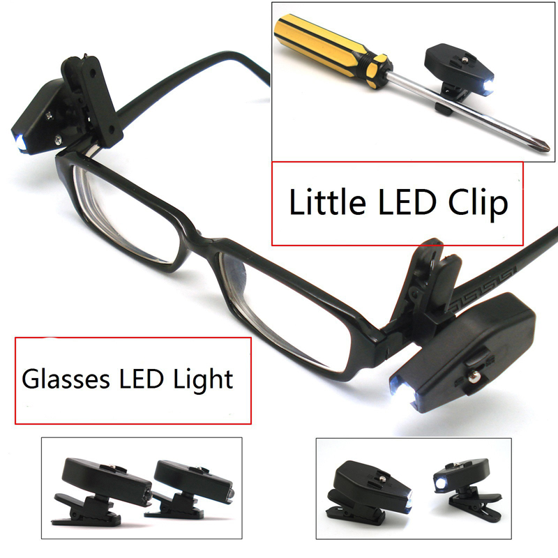 Mini Adjustable LED Light Glasses Made With ABS Material For Reading Books