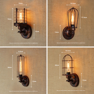 Image 2 - Vintage Industrial Wall Light,Rust Wall Lamp,светильник бра,Loft wall sconce Light Fixture,180°Adjustment,lampshade Up and down