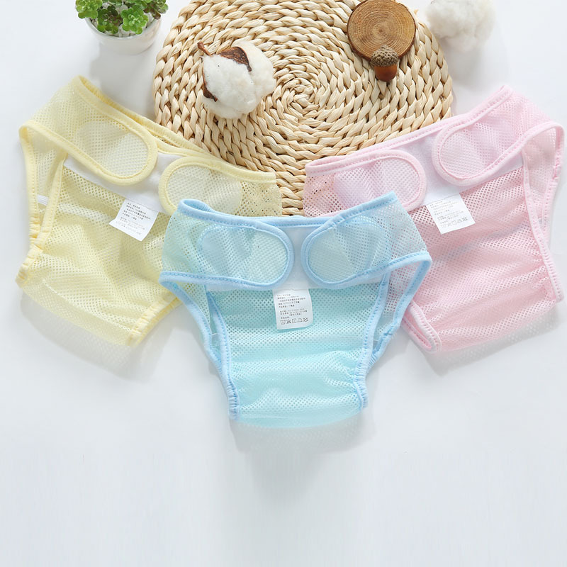 Summer Mesh Ventilation Washable Newborn Cloth Inserts Birth Diaper Infant Reusable Cotton Liner Pocket Breathable Baby Nappies