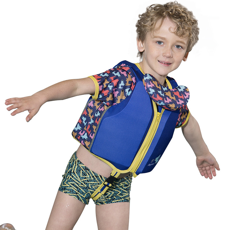 2019 New Style Fun With Sleeves Children Buoyancy Swimsuit Young Children Learning Swimming Fu Li Yi