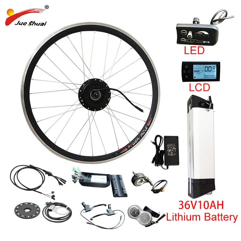 Livre de Direitos Motor da Roda Ebike e Bicicleta Kit de Bicicleta Kit de Conversão de Bicicleta Nenhum Imposto v 250 W-500 w Elétrica Hub 36v10ah Bateria ue ru 36