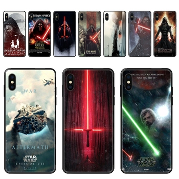 Episode Vii Force Awakens Black Soft TPU Protective Cover Case Designed For Samsung Galaxy S20 S10e S10 S9 S8 S7 S6 image