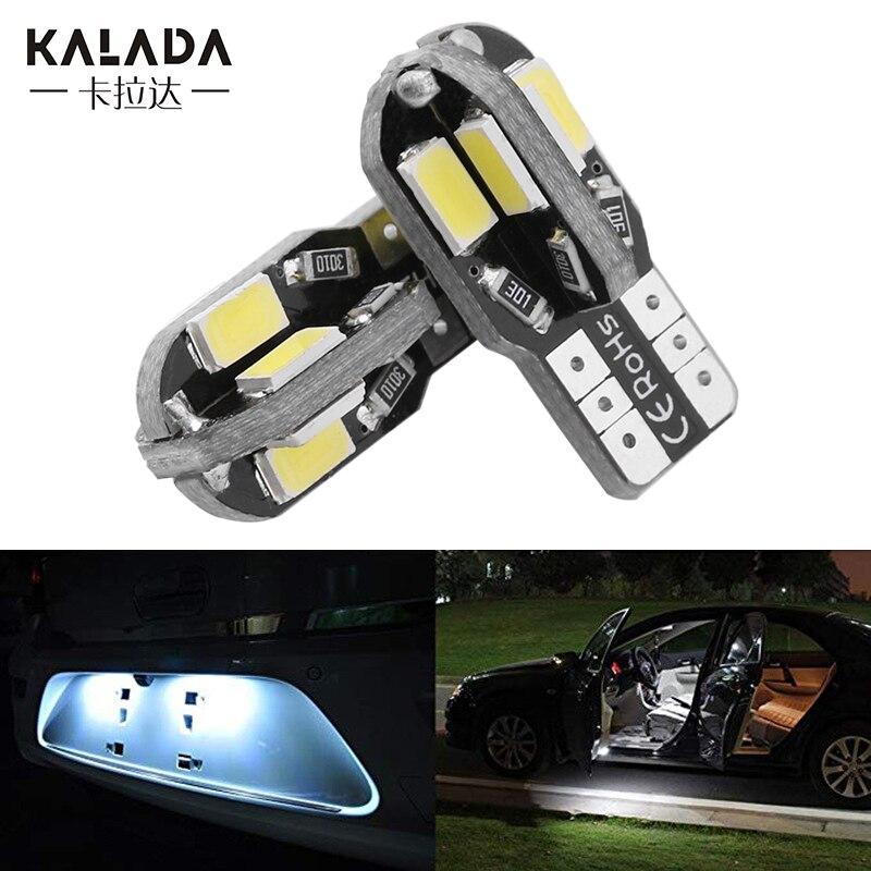 1pcs T10 Car Led Interior Reading Light W5w 168 194 Auto Width Lamp Side Marker Bulb For License Plate Lighting 12v Warm White