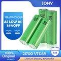Литий-ионный аккумулятор SONY 21700 VTC6A 3,7 В 4000 мАч для светодиодного фонарика, электрический инструмент, игрушечная электромашинка