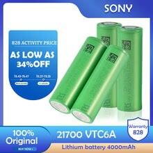Novo sony 21700 vtc6a 3.7v 4000mah bateria de lítio recarregável li-lon para lanterna led ferramenta elétrica carro brinquedo câmera