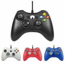 USB kablolu Gamepad Xbox 360 /Slim denetleyici Windows 7/8/10 Microsoft PC denetleyicisi destek buhar oyun