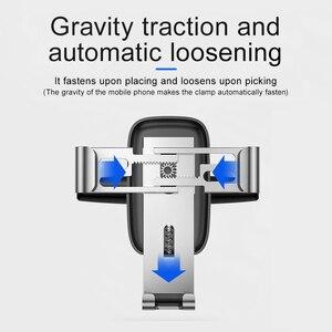 Image 4 - Baseus הכבידה רכב טלפון מחזיק עבור iPhone X Xs 78 סמסונג S9 אוניברסלי בתקליטור חריץ רכב מחזיק עבור נייד טלפון הר בעל
