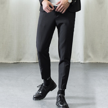 Zogaa 2019 Men's Fashion Suit Pant Man's Skinny Smart Casual Pant Male Slim Fit Full Length Business Pant Korean Style New Pant фото