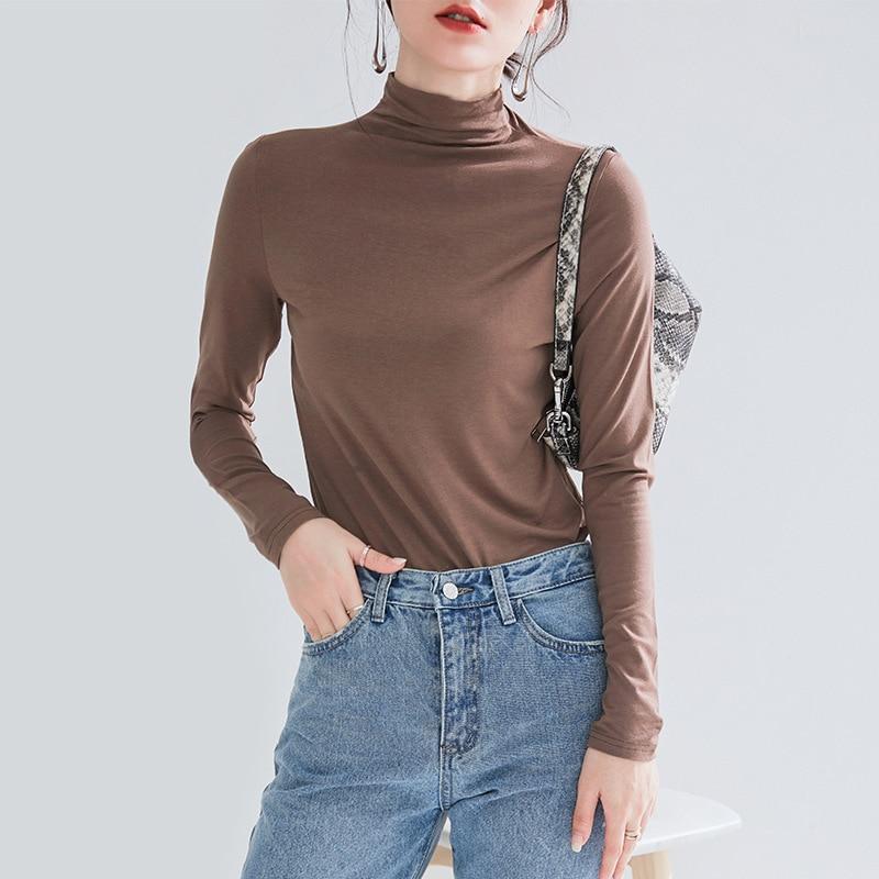 Women's Cotton Long Sleeve Solid Color Sweatshirt 2019New