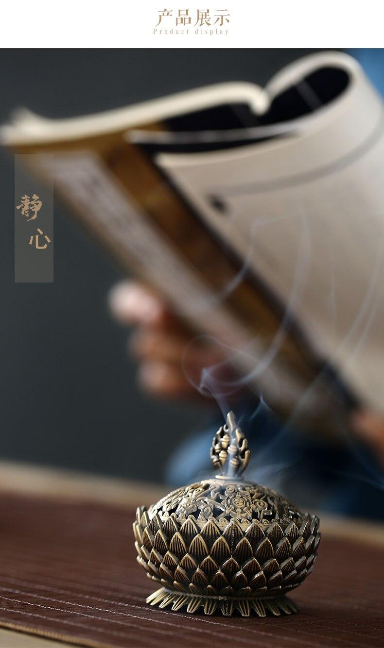 zen vaporizador interior fumaça fonte incensario queimador