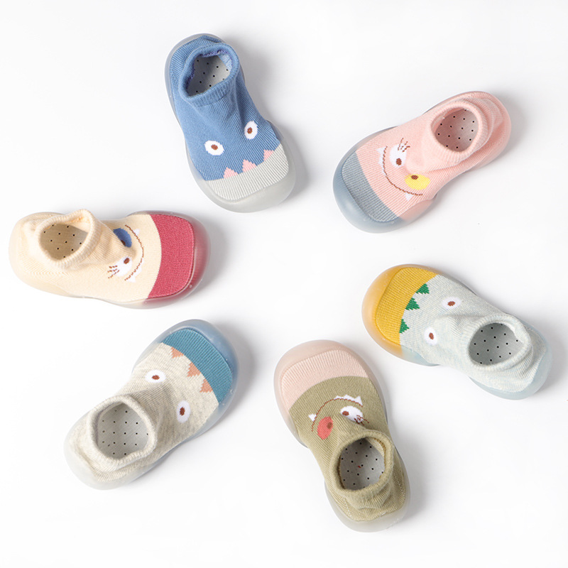 Baby Shoes Boy Girl Cartoon Toddler Shoes Newborn Lovely Baby Booties Kids Anti-Slip Shoes Soft Rubber Soled Socks Shoes