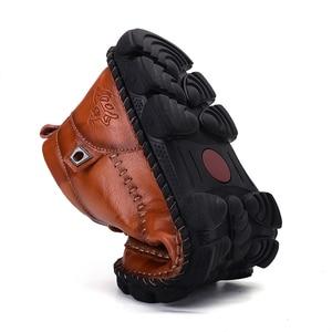 Image 2 - Mens Leather Ankle Boots Lace up Men Shoes High Quality Men Vintage British Military Boots Autumn Winter Plus Size 38 48