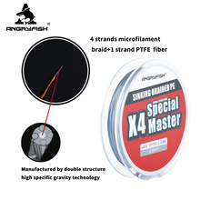 Braided-Line Master-Series Fast-Sinking Angryfish Strong X4 Tension PE Smooth 4--1 114M