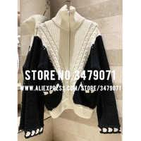 Herbst winter Kaschmir + wolle hohe qualität Zipper hohe kragen pullover strickjacke frauen pullover 2019 winter zipper jacke