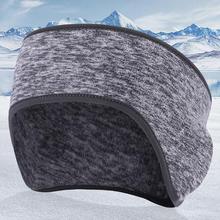 Zimowa wiatroszczelna opaska do włosów elastyczna Fitness joga kobiety z pałąkiem na głowę pluszowe ciepłe męskie nauszniki akcesoria do włosów tanie tanio CN (pochodzenie) hairbands