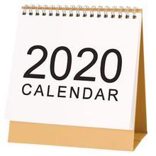 Desk Calendar 2019-2020 Monthly Desk Desk-Top Flip Calendar Stand Up Office Table Planner Date Notepad Teacher Planer new 2019 cartoon animals calendar table calendars various animal desk planner calendar 2018 07 2019 12
