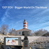 Moza moin pocket camera 3-axis anti-shake 2.45 inch touch screen 4k 1080p wide angle handheld gimbal stabilizer pocket camera