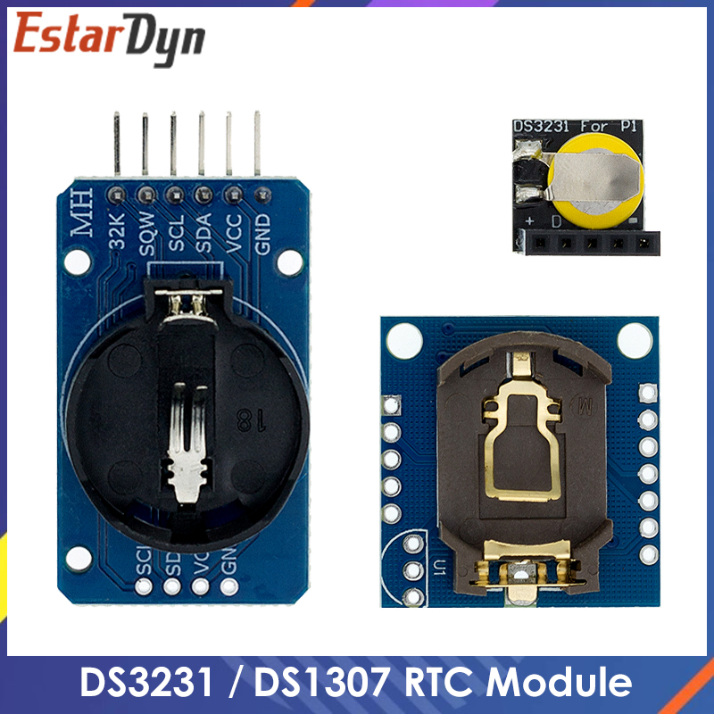 Модуль DS3231 AT24C32 IIC, модуль прецизионных часов DS1307, модуль памяти DS1307, мини-модуль в реальном времени 3,3 В/5 В для Raspberry Pi