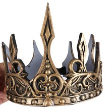 Wedding Party Accessories Hair Jewelry Prince Princess Ancient Gold Crown Tiaras Headband Kid Men Party Decoration Crown(China)