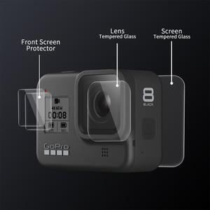 Image 2 - تبادل لاطلاق النار ل Gopro بطل 8 الأسود الزجاج المقسى حامي الشاشة شاشة LCD فيلم واقية ل الذهاب برو بطل 8 الذهاب برو 8 كاميرا الوصول