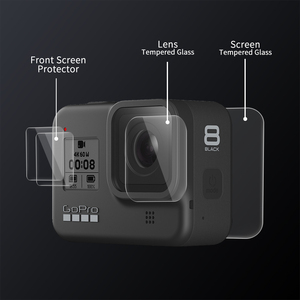Image 2 - SHOOT for Gopro Hero 8 Black Tempered Glass Screen Protector LCD Screen Protective Film for Go pro Hero 8 Go Pro 8 Camera Access
