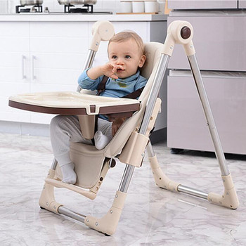 цена на Newborn Baby Chair Upgrade With Wheels Portable Infant Seat Adjustable Folding Baby Dining Chair High Chair Baby Feeding Chairs