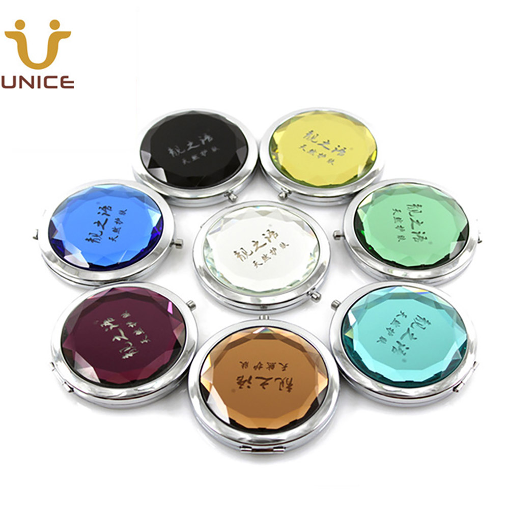 100pcs Lot Custom Logo Crystal Makeup Mirror Pocket Compact Mirror Purse Cosmetic Mirror Customized Logo Makeup Mirrors Aliexpress