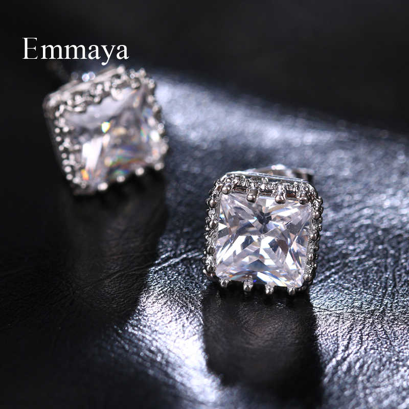 Emmaya/Новое поступление, классические кубические маленькие и милые серьги, женские великолепные украшения с цирконием, модные вечерние наряды
