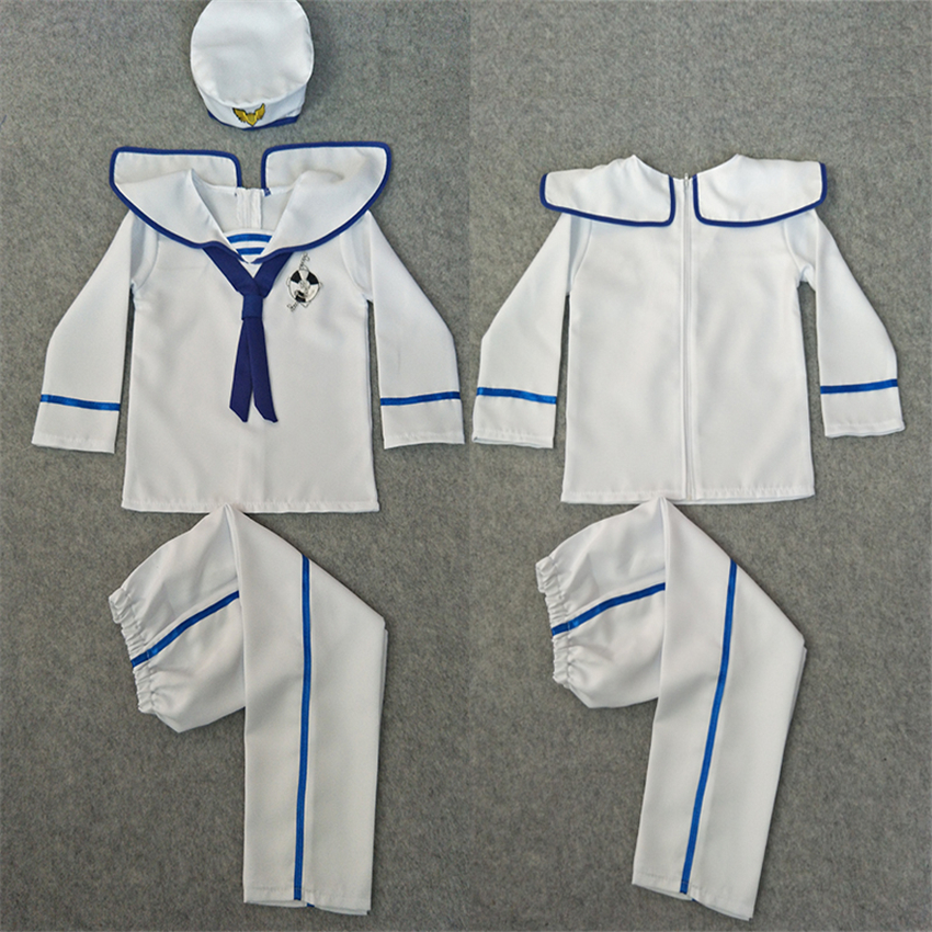 90-160cm Kids Sailor Clothing Set Boys Girls Party Performance Choir Dance Wear Navy Cosplay Costumes Military Army Suit