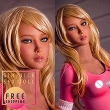 157cm (5.15ft) małe piersi silikonowe lalki Sex dla mężczyzn prawdziwe Szie pełne silikonowe zabawki erotyczne blond Latina Doll z metalowym szkieletem