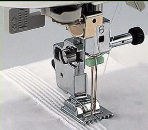 Janome domestic sewing machine foot 701-7 pintuck foot 7 grooves 200317009 image