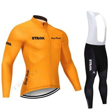 2019 strava outono manga longa camisa de ciclismo conjunto bib calças ropa ciclismo roupas de bicicleta mtb camisa uniforme roupas masculinas 17