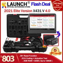 Launch – X431 V Scanner de voiture, outils de Diagnostic de voiture, système complet, codage ECU, 30 + Scanner de réinitialisation pro, kit d'outils automobile, programme de clé PK x431 v + Autel