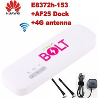 Unlocked huawei E8372 E8372h 153 4g usb modem WIFI 150Mbps with 2pcs 4g antenna and charger station