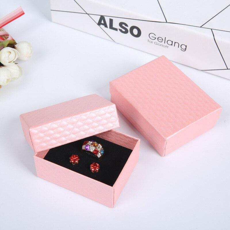 Multi-color Ring Box Accessories Gift Box Pendant Necklace Set Jewlery Box Ear Stud Small Paper Box